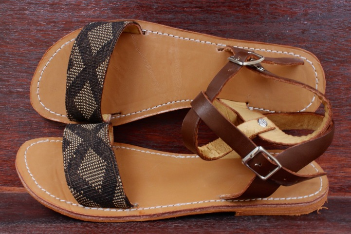sandals2 with black and brown pagne