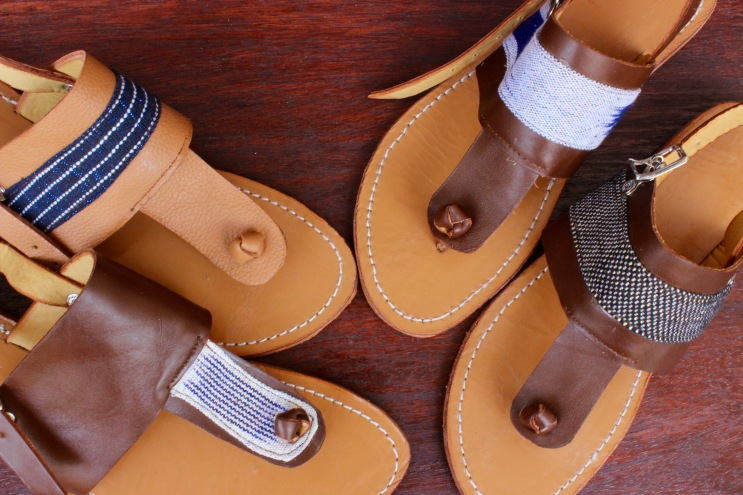 Pagne tissé and Iskra shoes go together like peanut butter and chocolate :-)
